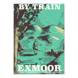 Exmoor National Park vintage travel poster Card