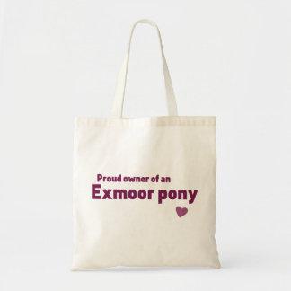Exmoor pony budget tote bag