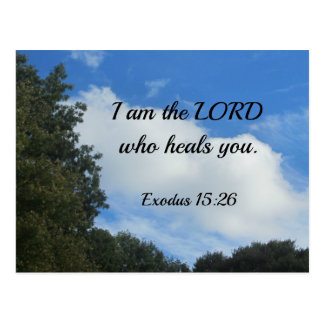 Exodus 15:26 I am the Lord who heals you. Postcard