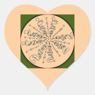 Exodus 15:2 Mandala Heart Sticker