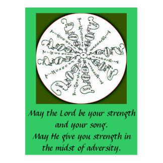 Exodus 15 2 Mandala Postcards