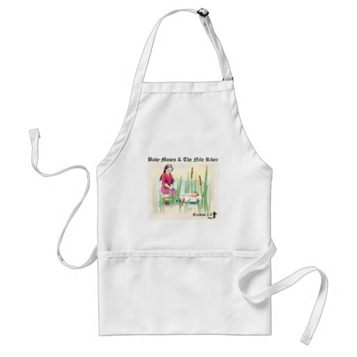 Exodus 2:3 - Baby Moses on the Nile River Aprons