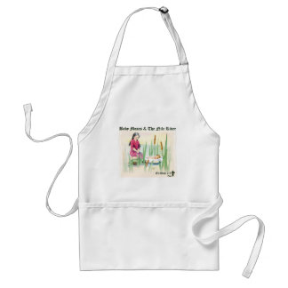 Exodus 2:3 - Baby Moses on the Nile River Standard Apron