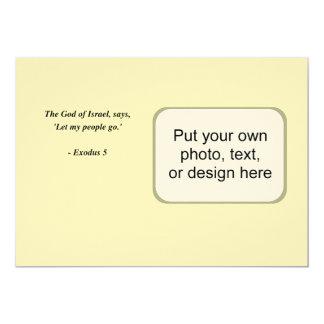 EXODUS 5 13 CM X 18 CM INVITATION CARD