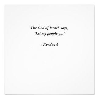 EXODUS 5 PERSONALISED ANNOUNCEMENT