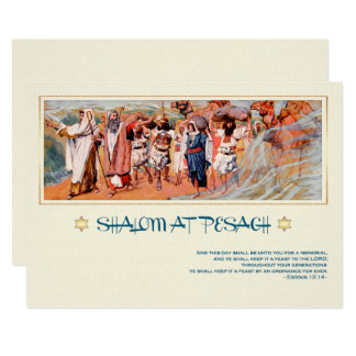 Exodus from Egypt painting Passover Greeting Cards