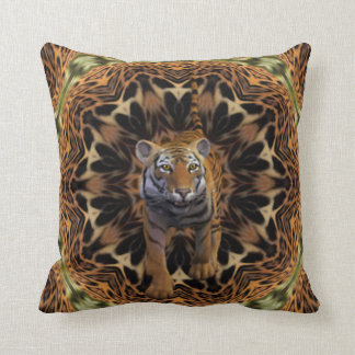 Exotic African Tiger. Throw Pillow