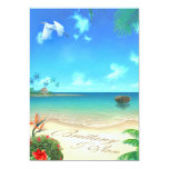 Exotic Beach (ask me to put your names in sand) 13 Cm X 18 Cm Invitation Card