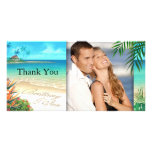 Exotic Beach ask me to put your names in the sand Photo Greeting Card