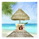 Exotic Beach Custom Photo Save The Date Personalized Invitations