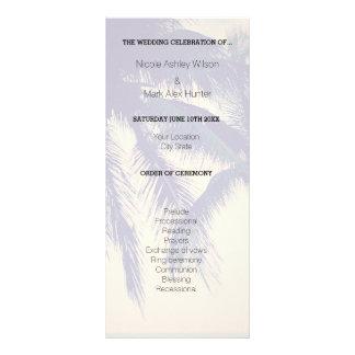 Exotic beach destination wedding ceremony program rack card