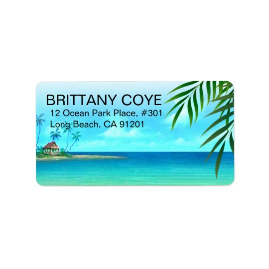 Exotic Beach Label