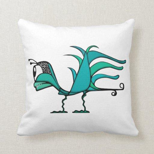 Exotic Bird Throw Pillows