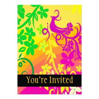 Exotic Bird In Tropical Colors Custom Invites