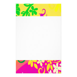 Exotic Bird In Tropical Colors Stationery Paper