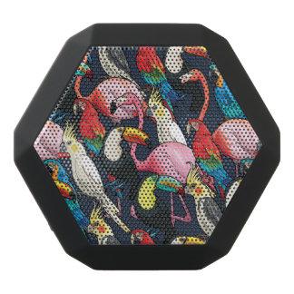 Exotic birds black bluetooth speaker