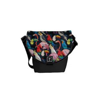 Exotic birds commuter bag