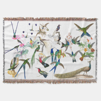 Exotic Birds Feather Wildlife Animal Throw Blanket