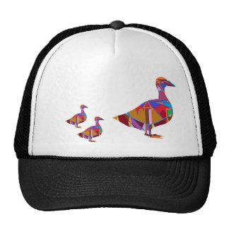 Exotic Birds - Mommy n Baby Ducks Mesh Hats
