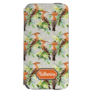 Exotic Birds On Lace | Add Your Name Incipio Watson™ iPhone 6 Wallet Case