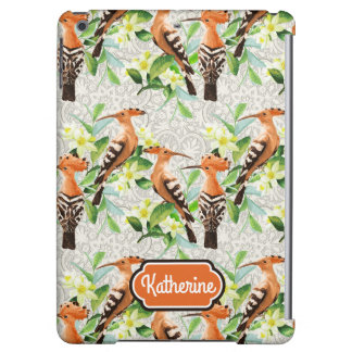 Exotic Birds On Lace   Add Your Name iPad Air Case