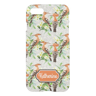 Exotic Birds On Lace   Add Your Name iPhone 7 Case