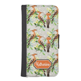 Exotic Birds On Lace | Add Your Name iPhone SE/5/5s Wallet Case