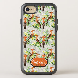Exotic Birds On Lace | Add Your Name OtterBox Symmetry iPhone 8/7 Case