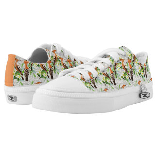Exotic Birds On Lace Printed Shoes