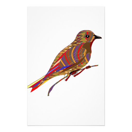 Exotic Birds: Wild Pet Zoo Graphic LowPrice GIFTS Customized Stationery