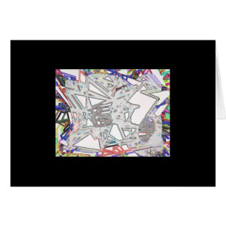 Exotic blossom contours greeting card