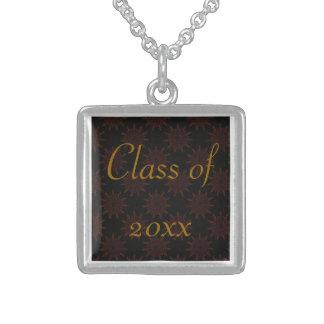 Exotic Blossom Square Pendant Necklace