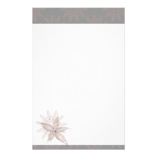 Exotic Blossom Customized Stationery