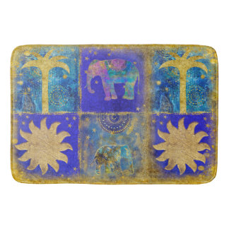 Exotic Blue Bath Mat