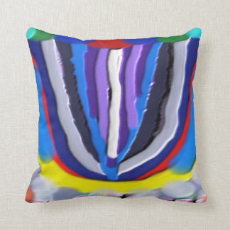 Exotic Blue Lotus  : Artistic Colorful OneOFaKIND Throw Cushions