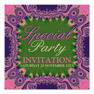 Exotic Bohemian Girls Special Party Invitations