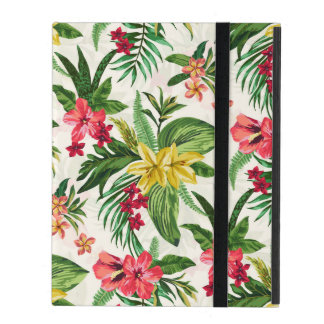 Exotic Botanical Flowers iPad Folio Cover