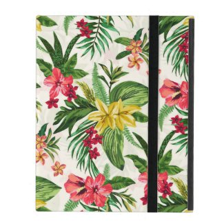 Exotic Botanical Flowers iPad Folio Cover