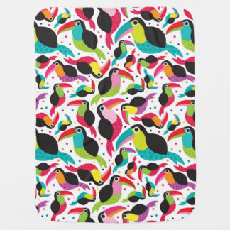 exotic brazil toucan bird background baby blanket