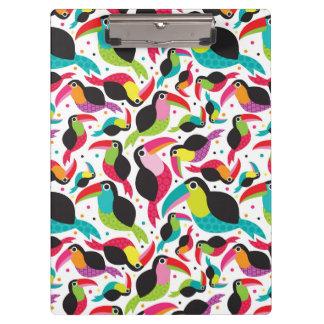 exotic brazil toucan bird background clipboard