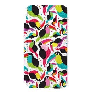 exotic brazil toucan bird background incipio watson™ iPhone 5 wallet case