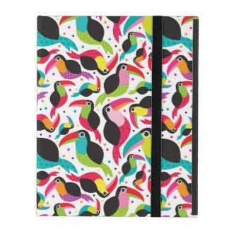 exotic brazil toucan bird background iPad folio case