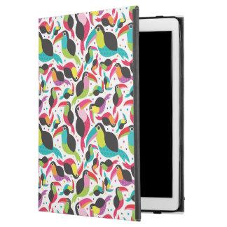 "exotic brazil toucan bird background iPad pro 12.9"" case"