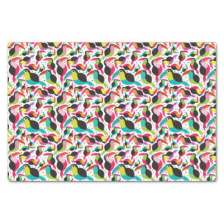 exotic brazil toucan bird background tissue paper