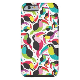 exotic brazil toucan bird background tough iPhone 6 case
