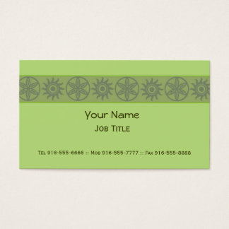 Exotic Business Cards Green
