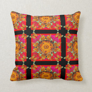 Exotic Butterfly-Sunflower Pillow by Sharles