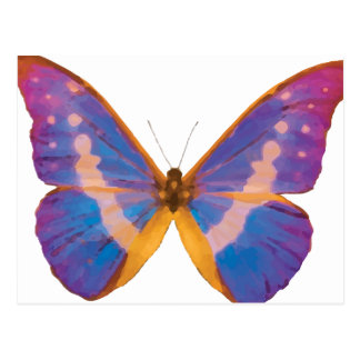 Exotic Butterfly Watercolor Postcard