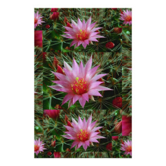 EXOTIC Cactus Flower : Greet Thank n Welcome Customized Stationery