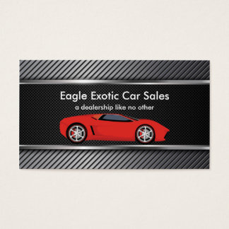 Exotic Car Sales Business Card